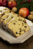 Christmas cake with spices and dried fruits Stock Photos