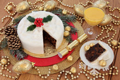 Christmas Cake Still Life Stock Photography