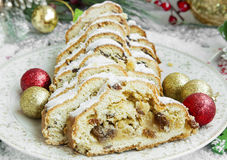 Christmas Cake, Stolen Christmas Traditional Homemade Cake Stock Photography