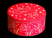 Christmas cake tin Royalty Free Stock Images