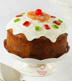 Christmas cake. Typical from Chile, called Pan de Pascua made with spices, dried fruits and raisins stock photography