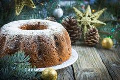 Christmas cake w Stock Image