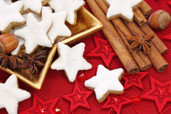 Christmas cakes stock images