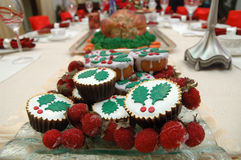 Christmas cakes Royalty Free Stock Images