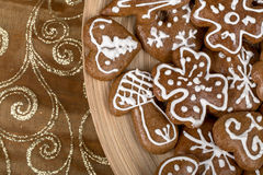 Christmas cakes close up Stock Photography