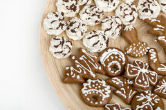 Christmas cakes close up Royalty Free Stock Images