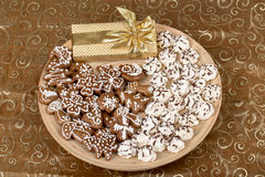 Christmas cakes close up Royalty Free Stock Photo