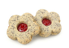 Christmas cakes with poppy seed Royalty Free Stock Photos