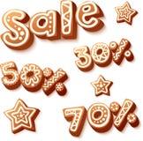 Christmas cakes sale discount illustration Stock Photos