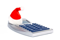 Christmas calculator Royalty Free Stock Image