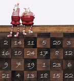 Christmas calendar Stock Image