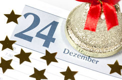 Christmas on calendar Stock Image