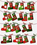 Christmas calendar Royalty Free Stock Photo