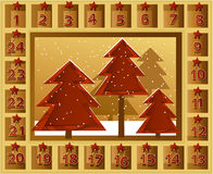 Christmas calendar Royalty Free Stock Photos
