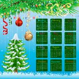 Christmas calendar. Background Royalty Free Stock Images