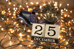 Christmas calendar stock photography