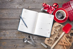 Christmas Calendar Baking Organiser royalty free stock image