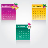 Christmas calendar. Beautiful christmas calendar design stock illustration