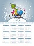 Christmas  calendar with cute sheep Stock Photos