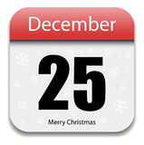 Christmas Calendar Date. 25 December Royalty Free Stock Photo