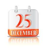 Christmas calendar icon Stock Photo