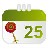 Christmas calendar icon Stock Photo
