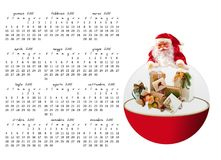 Christmas calendar Stock Photos