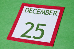 Christmas Calendar Page Royalty Free Stock Photography