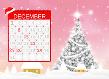 Christmas calendar page Royalty Free Stock Photo