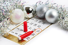 Christmas calendar and prepare for New Year your text Stock Photo