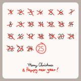 Christmas calendar - template for christmas design. Vector illustration Stock Image