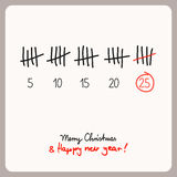Christmas calendar - template for christmas design. Vector illustration Stock Photography