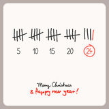Christmas calendar - template for christmas design. Vector illustration Royalty Free Stock Photos
