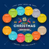 Christmas Calendar 2015 Royalty Free Stock Photos