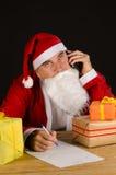 Christmas call center Royalty Free Stock Image