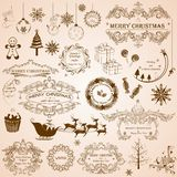 Christmas Calligraphic Decoration Stock Photos