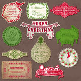 Christmas Calligraphic Design Elements Royalty Free Stock Image