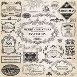 Christmas Calligraphic Design Elements Stock Photo