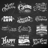 Christmas Calligraphic Design Elements. Vector Set: Christmas Calligraphic Design Elements and Page Decoration, Vintage Frames royalty free illustration