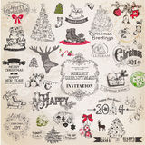 Christmas Calligraphic Design Elements Stock Photography