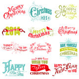 Christmas Calligraphic Design Elements. Vector Set: Christmas Calligraphic Design Elements and Page Decoration, Vintage Frames vector illustration