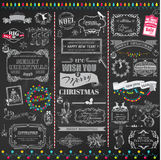 Christmas Calligraphic Design Elements Stock Photos