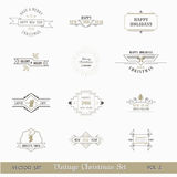 Christmas Calligraphic Design Elements. Vector Set: Christmas Calligraphic Design Elements and Page Decoration, Vintage Frames stock illustration