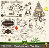 Christmas calligraphic set Royalty Free Stock Photography