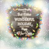 Christmas Calligraphy - Vintage Signboard. EPS 10 Royalty Free Stock Photo