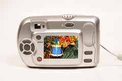 Christmas camera Royalty Free Stock Photo
