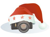 Christmas camera Royalty Free Stock Photography