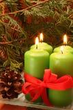 Christmas candĺes Stock Image
