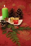 Christmas candĺe Royalty Free Stock Images