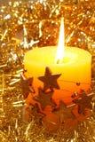 Christmas candĺe Royalty Free Stock Photos